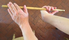 Hand Stretch with a drum stick